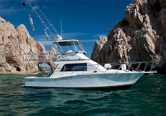 Today I was out shooting the 35' Cabo Yachts Sportfisher Bad Medicine.